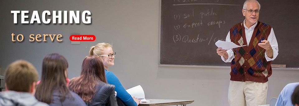 Lee Burras in the classroom