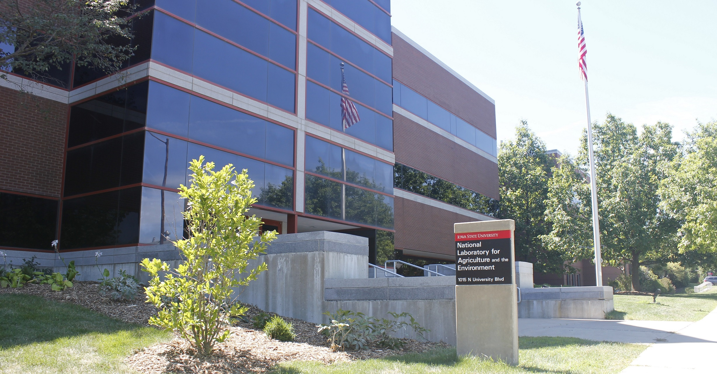 Front of National Laboratory for Agriculture and the Environment at Iowa State University