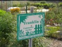 Sign for Franklin Community Garden, Des Moines.