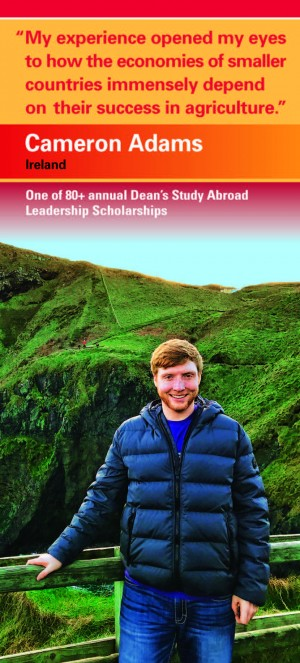 Testimonial from Cameron Adams about eye-opening study abroad experience in Ireland