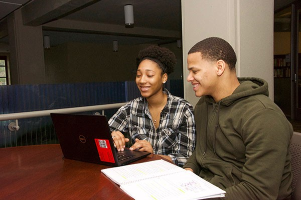 College of Agriculture and Life Sciences students Janiya Stroger and Immanuel Taylor
