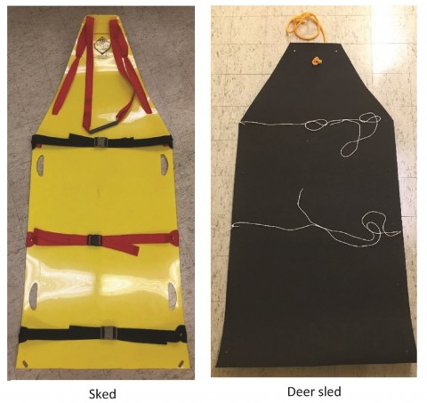 Swine handling tools tested: sked and modified deer sled