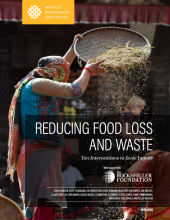 Cover of report, Reducing Food Loss and Waste: Ten Interventions to Scale Impact