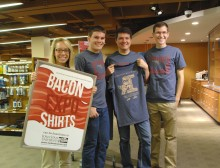 Iowa State University Bacon Expo t-shirts on sale.