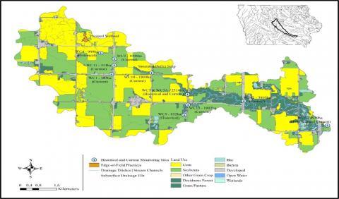 Map of Walnut Creek Watershed Iowa