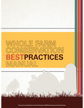 Cover of Whole Farm Conservation Best Practices Manual.