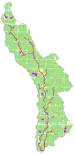 Digitized watershed image